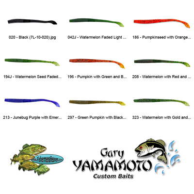 Different colors styles Lot 9 new packs Luck E strike curltail plastic worms