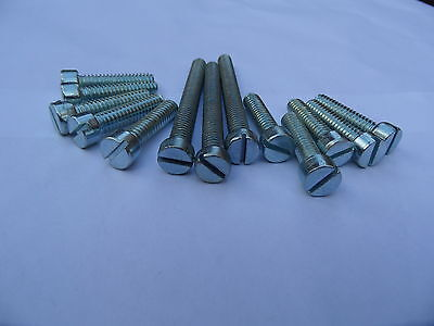 Triumph Primary Cover  Screw Set 51-53 /& 54-59 Cheesehead Flat Slotted Dyanamo