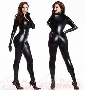 Gothic-Punk-2-Way-Zipper-Overall-Wetlook-Bodysuit-Catsuit-Erotic-Costume-P7055