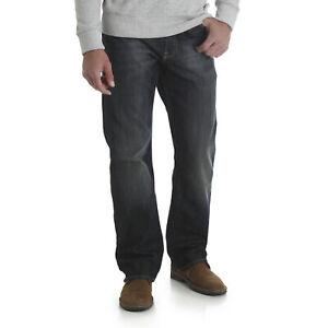 Wrangler-NEW-Blue-Men-039-s-Boot-Cut-Leg-Relaxed-Comfort-Fit-Mid-Rise-Denim-Jeans