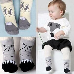 0-4Y Kids Baby Girls Boys Cotton Cartoon Animal Soft Anti Slip Boots Ankle Socks
