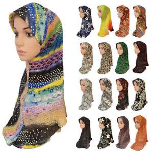Women-Flower-Hijab-Scarf-Headscarf-Islamic-Shawls-Amira-Lady-Hijab-Muslim-Cap