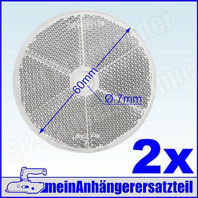 2x Frontstrahler Bugstrahler Vorderstrahler weisser Strahler rund 60mm weiss 2x