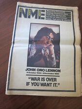 NME 12/13/80 John Lennon dies murdered obituary