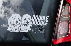 Doppio-Doodle-On-Board-Auto-Finestrino-Adesivo-Dorato-Goldendoodle-Cane-V01
