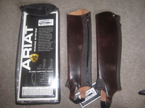 RRP £135 Black Chocolate XST Gaiters CLEARANCE Ariat Close Contact Chaps