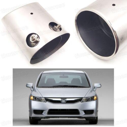 Car Exhaust Muffler Tip Tail Pipe End Trim for Honda Civic Sedan 2006-2011 #4081