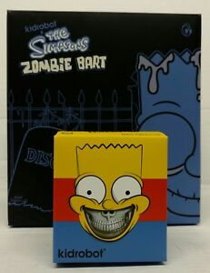 Kidrobot-The-Simpsons-Vinyl-Bart-2-Pack-6-034-Zombie-and-3-034-Grin-Mint-Unopened