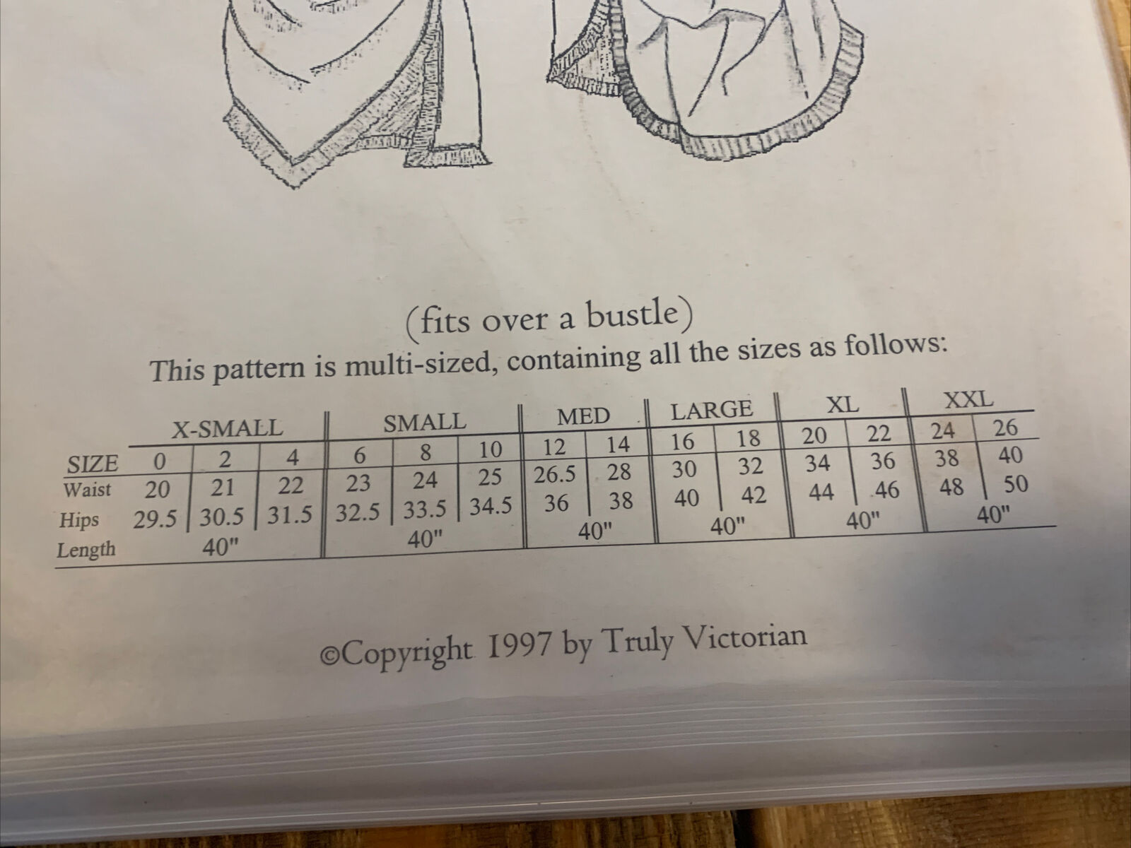 Truly Victorian Sewing Pattern TV305 Bustled Apro… - image 2