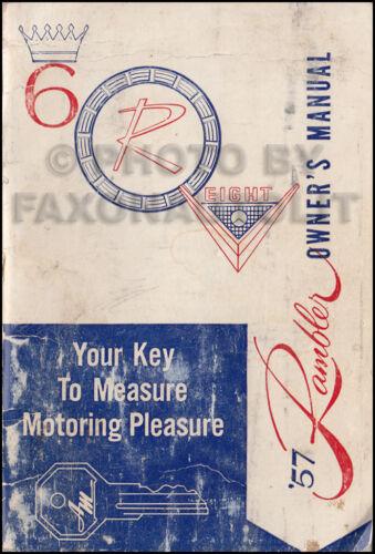 1957 Rambler Owners Manual Original Nash AMC Owner User Guide Book OEM