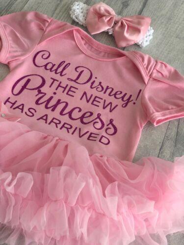 BABY GIRLS Call DISNEY PRINCESS Arrived tutu romper Dress NEWBORN Love Gift Cute