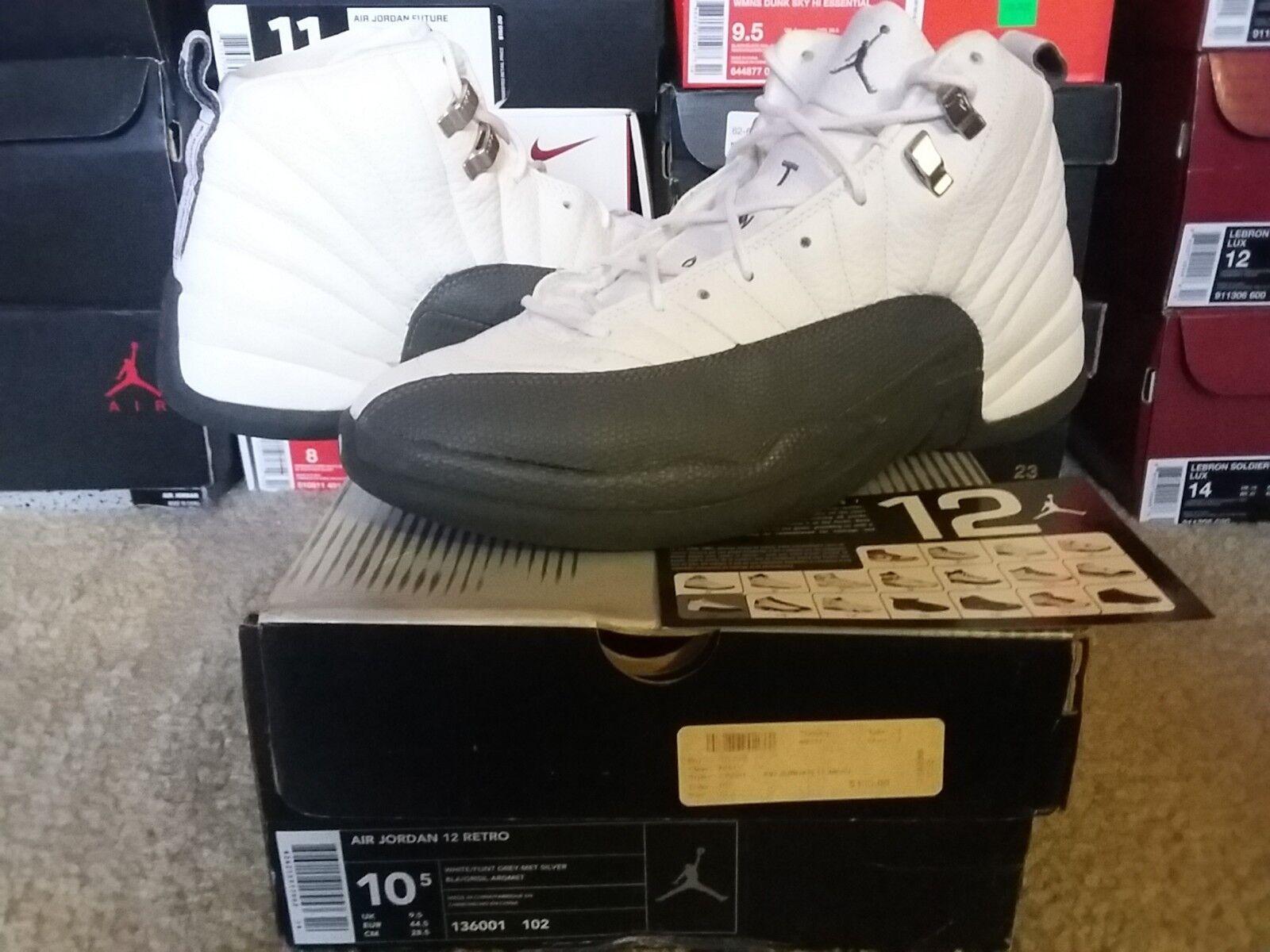 Nike Air Jordan XII 12 OG 2003 Retro White Flint Grey Silver Playoffs 136001 102
