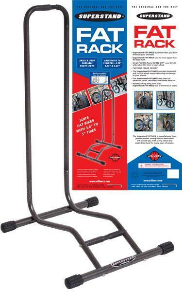 Willworx súperstand Fat Bike Portabicicletas Bicicleta Soporte de almacenamiento de información 26  súper