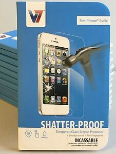 V7-Tempered-Glass-Screen-Protector-for-iPhone-5-5c-5s-PS500-IPHN5TPG-3N-NEW