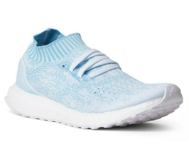 MENS ADIDAS ULTRABOOST Uncaged Parley CP9686 Running Shoes Icey Blue White Sz 12