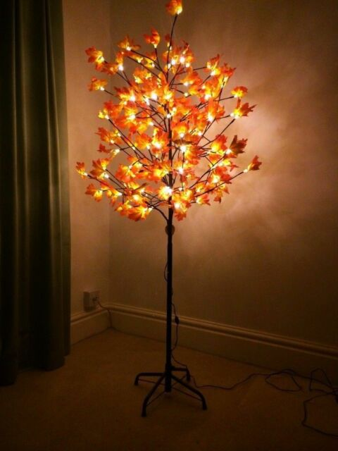 6ft pre lit maple leaf tree with warm white 180 led indoor outdoor 6ft pre lit maple leaf tree with warm white 180 led indoor outdoor lights aloadofball Gallery