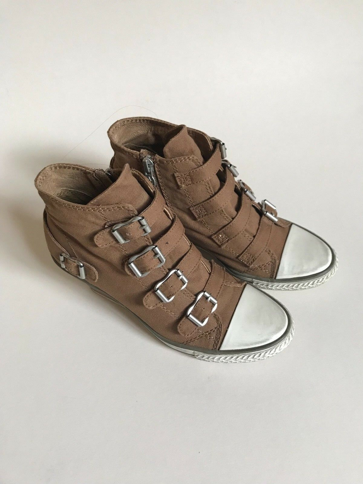 ASH Genial trainers Bis round toe trainers Genial Taupe Größe 3 64bbca