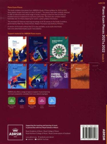 Piano Exam Pieces 2021-2022 ABRSM Grade 3 Music Book//CD SAME DAY DISPATCH