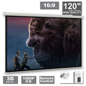 120-034-Electric-Projector-Projection-Screen-Motorised-Remote-Home-Cinema-PURE-16-9