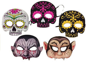 XMas-Party-Day-Of-The-Dead-Masks-Halloween-Fancy-Dress-Costume-Accessory-Vampire