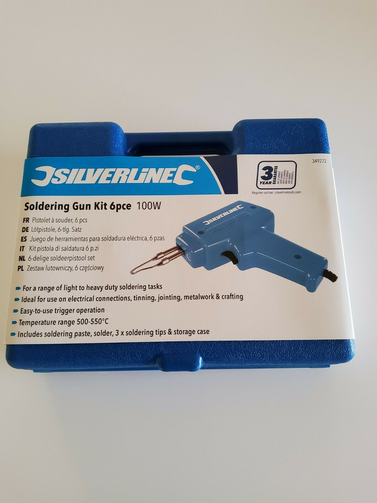 Silverline 349272 100 W Royaume-Uni à souder Gun Kit 6pce