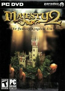 NEW Majesty 2 The Fantasy Kingdom Sim  (PC 2009) GAME FACTORY SEALED 16 MISSIONS