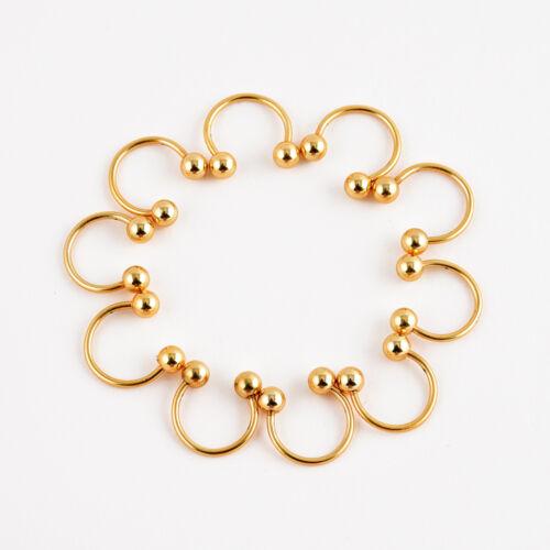 10 Stainless Steel Horseshoe Bar Lip Nose Septum Ear Ring Body Piercing Jewelry