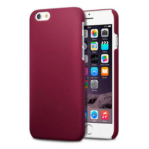 Solid-Red-Slim-Armour-Rubberised-Back-Cover-Hard-Case-for-New-Apple-iPhone-6-6S