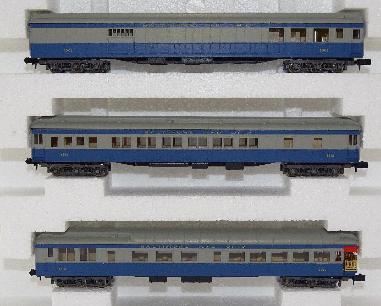 Rivarossi 0589 vehículos implicados set Baltimore & Ohio pista n nuevo embalaje original Rare