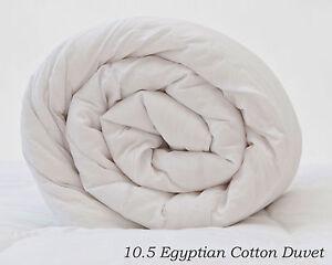 Egyptian Cotton Duvet Quilt Hollowfibre Filled 10 5 Tog