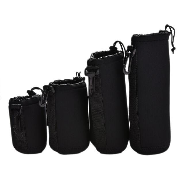 4pcs Neoprene Soft Protector Lens Pouch Case Bag S M L XL Set for DSLR Camera JS