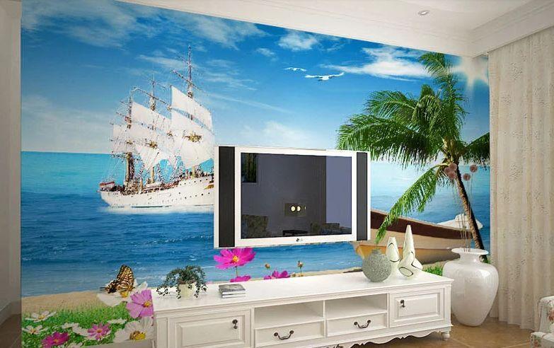 3D Offshore Sailing 109 WallPaper Murals Wall Print Decal Wall Deco AJ WALLPAPER