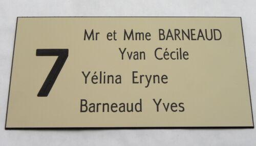 N° FT 48 x 100 mm plaque gravée boite lettres porte personnalisée 3//4 lignes