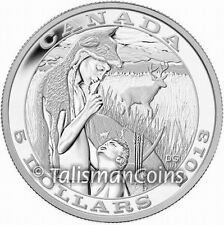 Canada 2013 Native American Hunting Tradition Deer Hunter $5 Pure Silver Proof