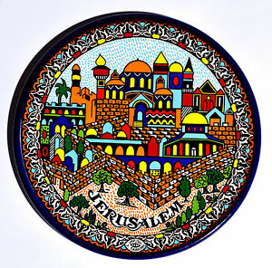 Collectible-Armenian-Plate-Size-9cm-From-The-Holyland-Jerusalem-1
