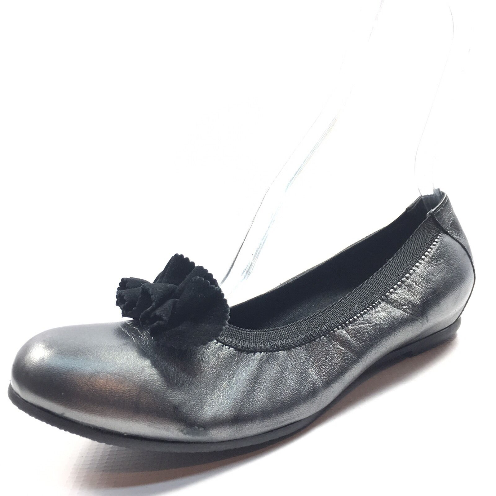 Munro American Merrie Gunmetal Leather Flats Womens Size Size Size 9.5 M cc968f