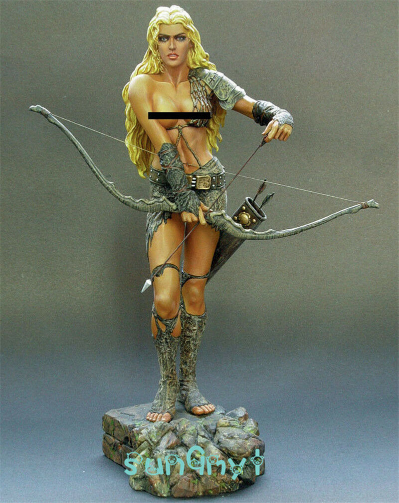 1 8 Unpainted Female Archer Figure Sexy Soldier Resin Statue GK Unassemble 10''H