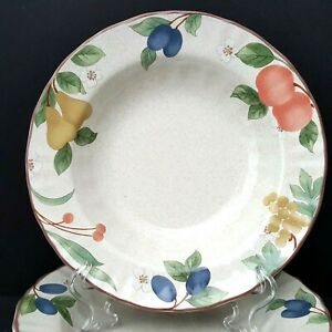 Mikasa-Country-Classics-Fruit-Panorama-4-Soup-Bowls-9-in-More-Pieces-Available