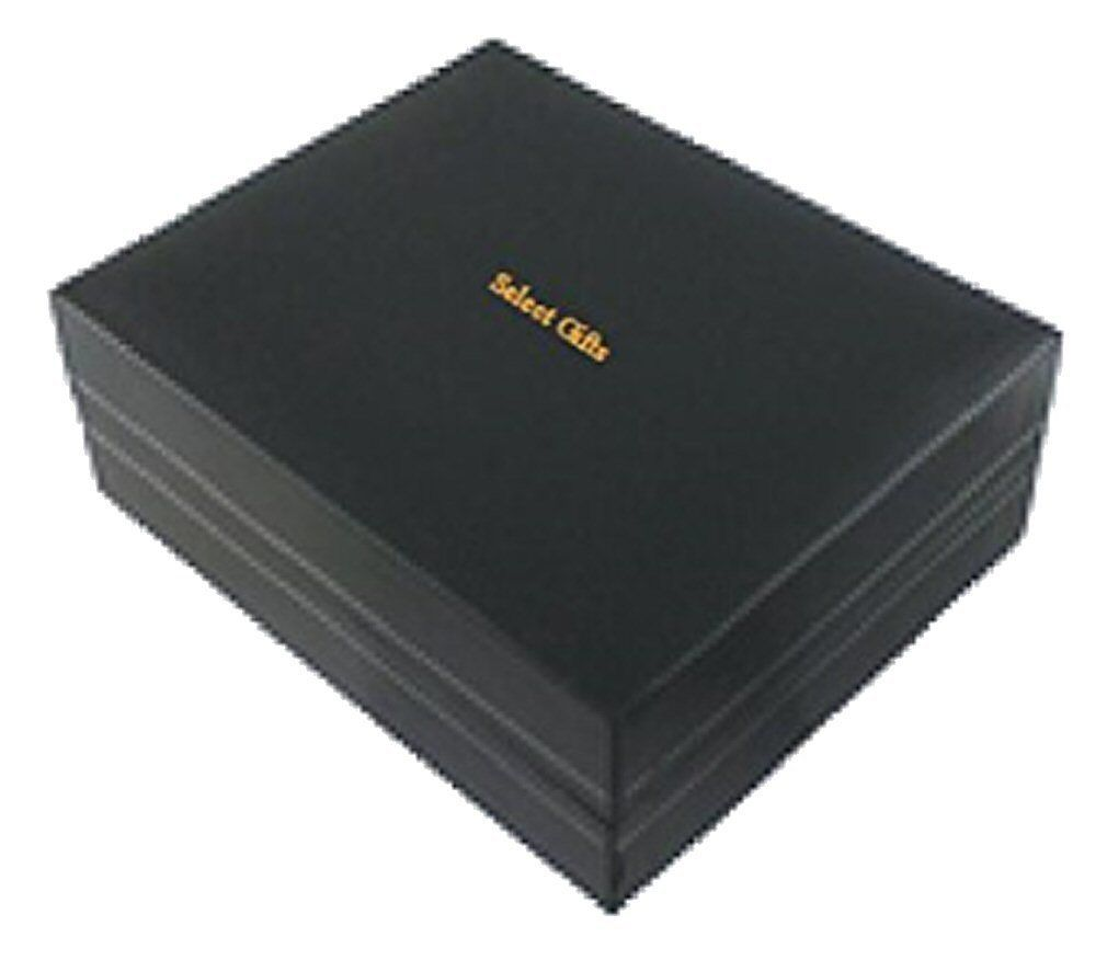 Numero carta da gioco Cuore 7 GOLE-Tone Gemelli Fermacravatta Fermacravatta Fermacravatta Box Set incisa 7909c3