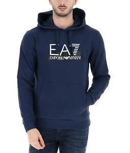 EA7-Emporio-Armani-7-Felpa-Uomo-Blu-Cappuccio-Logo