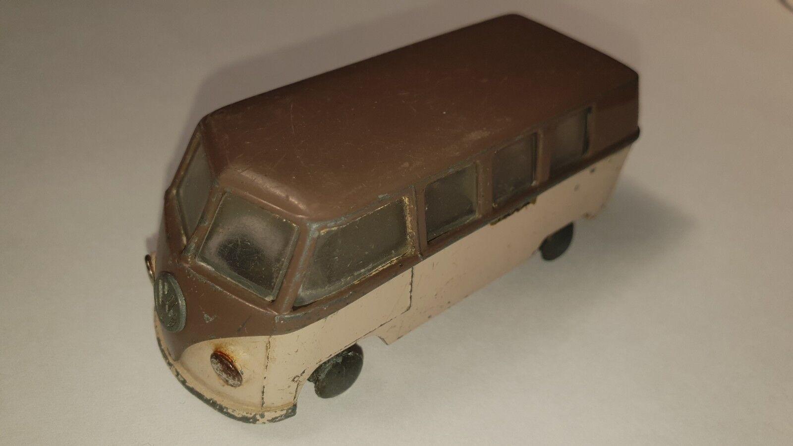 Vintage TEKNO Denmark 410 VW Bus typ T1 TAXI Reklamebiler 1953 -60 without tires