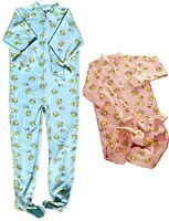 Baby Pants Adult Footed Duckie Jammies, Locking Zipper For Easy Diaper Changes