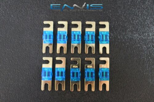 40 AMP MINI ANL FUSES GOLD PLATED INLINE AFC AFS BLADE AUTO HOLDER MANL40 5