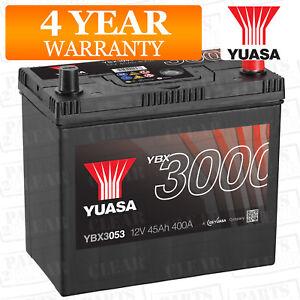 Car-Battery-YBX3053-Calcium-Black-Case-SMF-amp-SOCI-12V-400CCA-45Ah-T1-T3-by-Yuasa