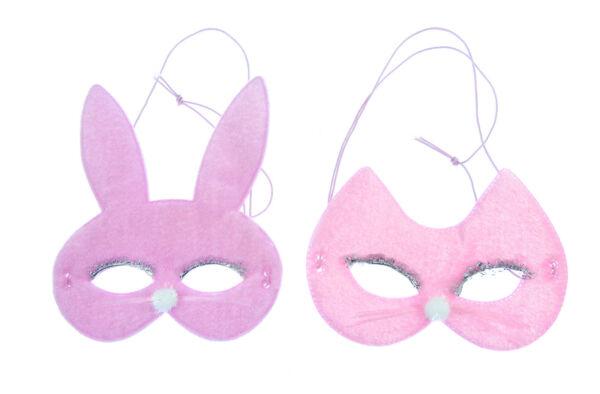 100% Vero 2 X Gatto E Coniglietto Maschere Costume Play, Scuola Play,halloween