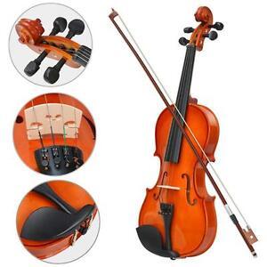 New-4-4-Full-Size-Acoustic-Violin-Set-With-Case-amp-Bow-amp-Rosin-Cake-amp-Bridge-amp-Strings-UK