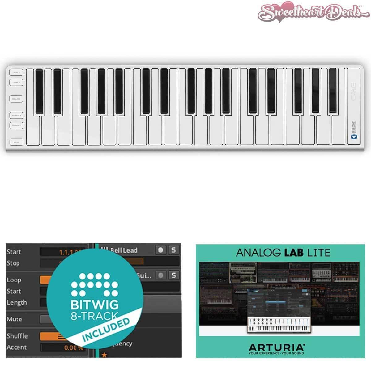 CME Xkey 37 Air Wireless MIDI Keyboard Home Recording Bundle Bitwig Arturia