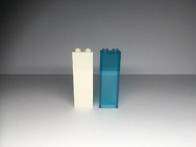 2454 Qty 2 New Lego TRANS LIGHT BLUE 1 x 2 x 5 BRICK