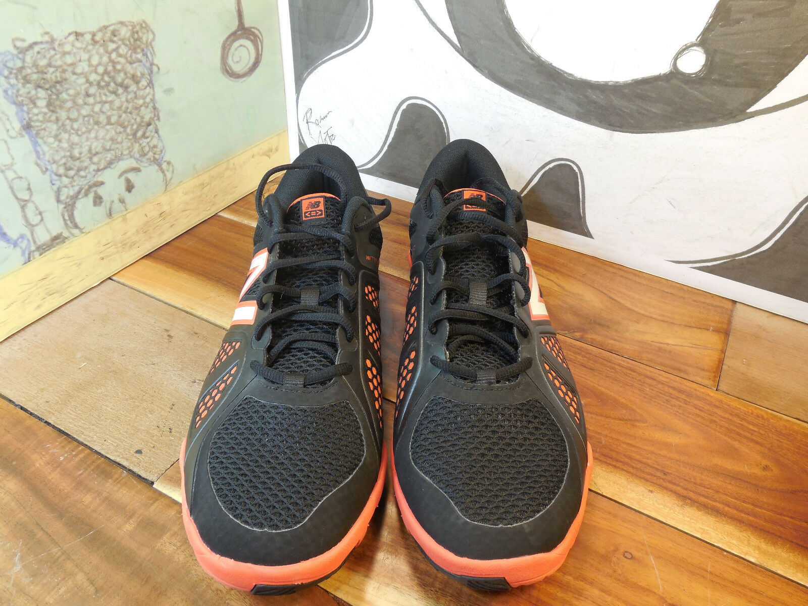 New Balance Minimus Black/Orange Running Shoes Men's 13EE New w/o Box #MX20BO2