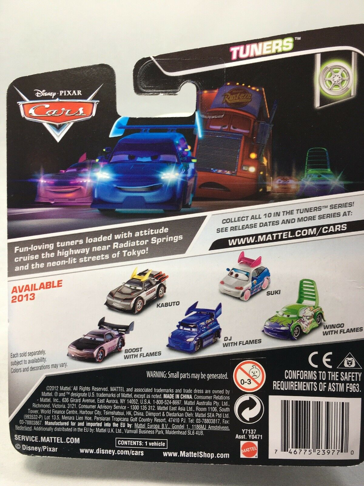 2013 Tuners New In Box Disney Pixar Cars Suki